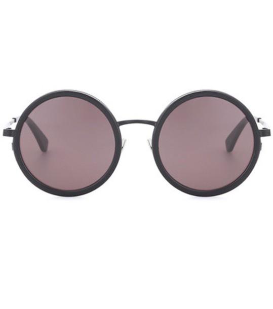 Saint Laurent classic sunglasses round sunglasses black