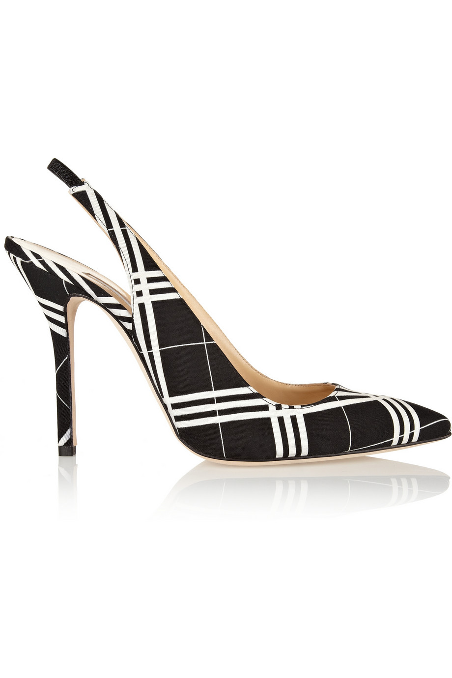 Oscar de la Renta Laura checked grosgrain pumps – 60% at THE OUTNET.COM