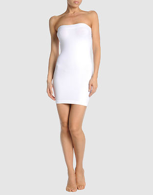 BodyCon ALAIA WHITE STRETCH DRESS SKIRT TUBE TOP NWT FR 42 US 0-10 ...