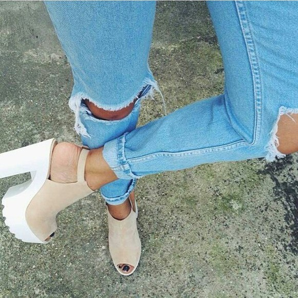 shoes classy white style jeans cheap