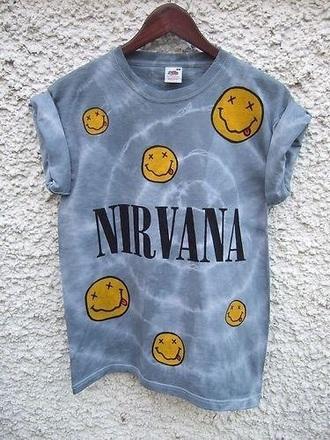 shirt nirvana band t-shirt