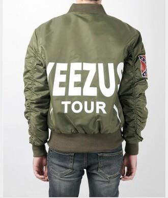 jacket yeezy tour bomber jacket yeezus green
