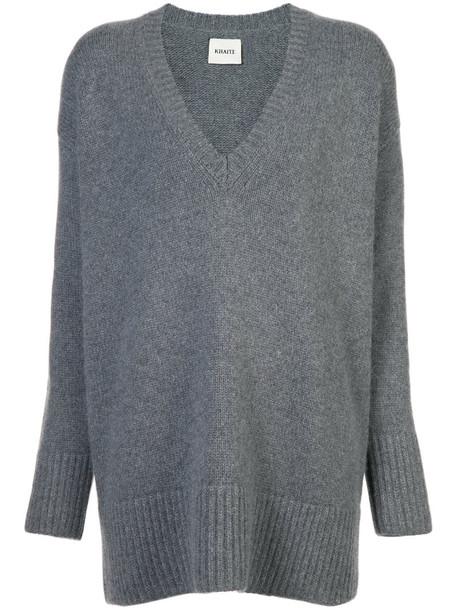 KHAITE jumper long women grey sweater