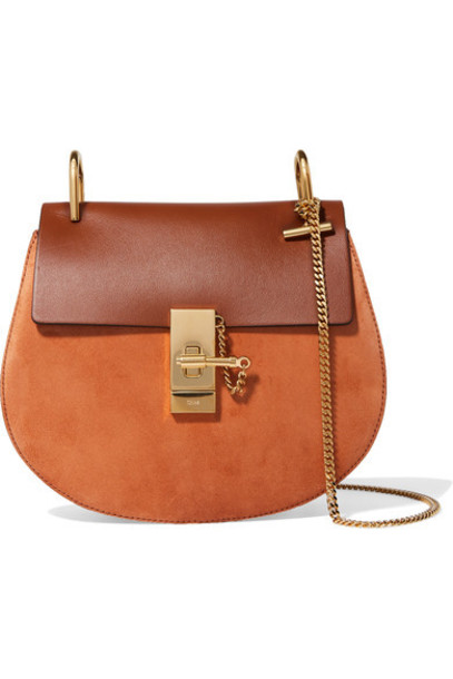 Chloe tan bag shoulder bag leather suede