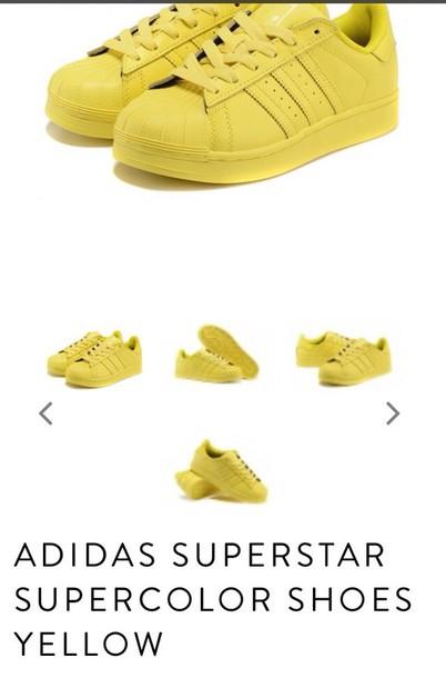 91a1d01f58c5 shoes adidas adidas shoes adidas superstars adidas originals adidas  supercolor yellow sneakers