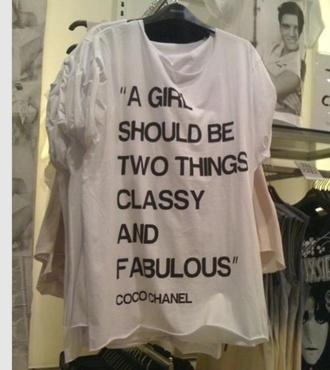 chanel inspired white tshirts chanel t-shirt shirt
