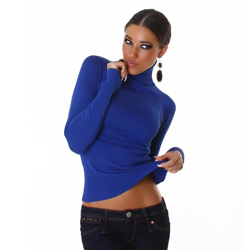 FINE-KNITTED TURTLENECK SWEATER ROYAL BLUE, 19,95 €
