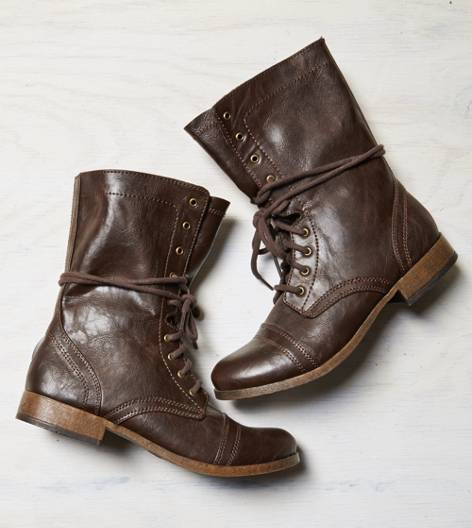 AEO Rugged Lace Front Boot, Brown | American Eagle Outfitters