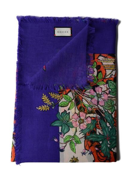 gucci tiger scarf purple