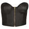 Pu zip up bralet - topshop
