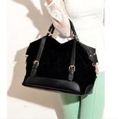 bag,suede,black,gold,handbag,tote bag