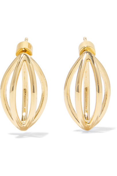 Jennifer Fisher earrings gold jewels