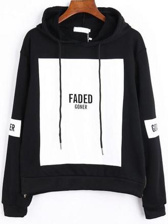 sweater black white sweater