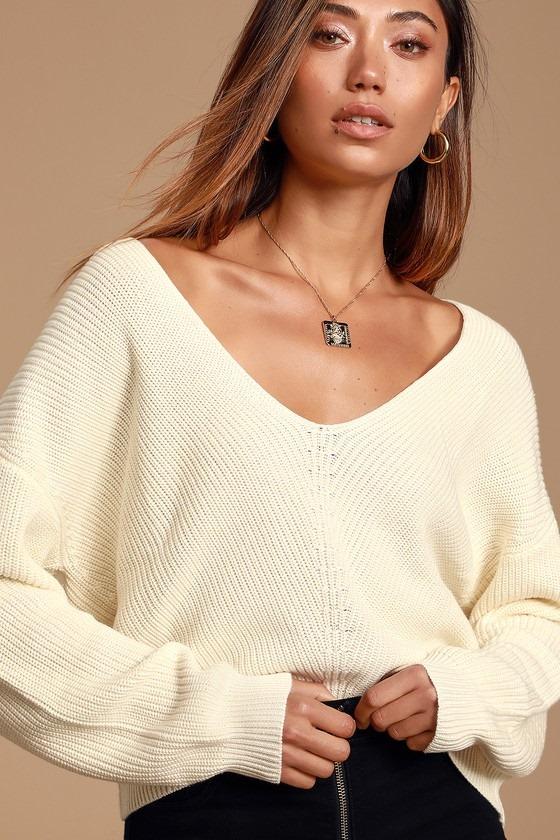 Feel it Still Ivory Knit Sweater