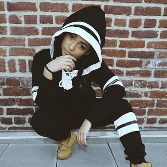 black and white dope sweatpants hoodie