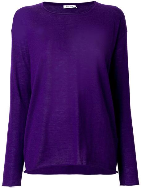 P.A.R.O.S.H. P.A.R.O.S.H. - long sleeved sweatshirt - women - Cashmere - S, Pink/Purple, Cashmere