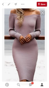 dress,bodycon dress,off the shoulder,sweater dress,pink dress,knitted dress