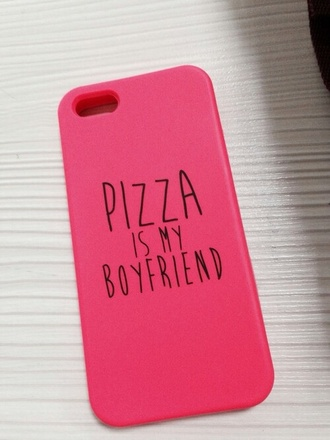 phone cover iphone 4 case iphone pizza pizza is my boyfriend