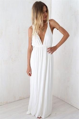 dress white maxi dress white dress boho dress bohemian dress maxi dress greek goddess simple dress simple white dress tank dress sleeveless dress