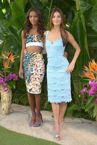 top crop tops skirt pencil skirt two-piece jasmine tookes