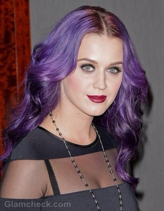 hair accessory katy perry purple hair dye pastel make up accessory