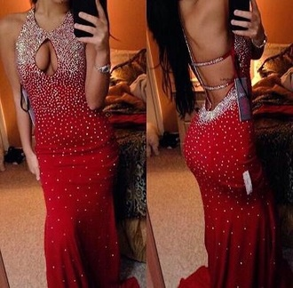 dress red dress red red prom dresses sequin dress sequin prom dresses cut-out dress long dress long prom dress