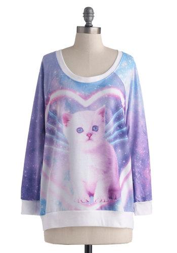 Dream Come Mew Sweatshirt | Mod Retro Vintage T-Shirts | ModCloth.com