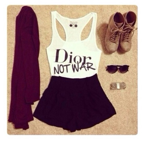 t-shirt dior not war white