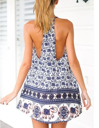 dress elephant print tribal pattern aztec blue festival back elephant print tribal print dress aztec dress boho chic boho dress indie boho blue dress patterned dress festival dress open back dresses low back dress tunic dress elephant dress shift dress