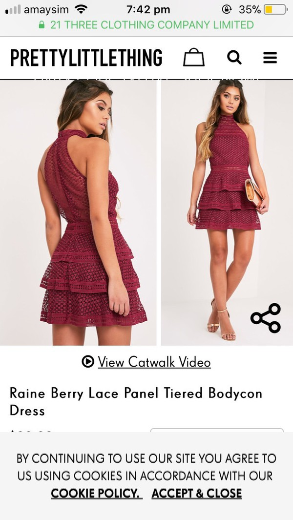 dress high neck frill halter neck burgundy burgundy