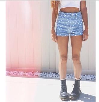 shorts polka dots