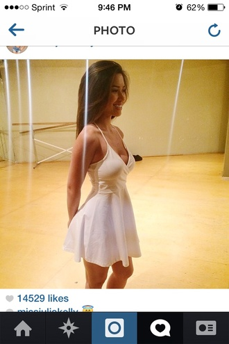 dress white summer dress white ariana grande vintage girly