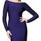 Long sleeve boatneck bandage dress navy blue