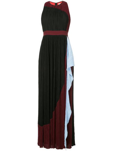 Roksanda dress long dress flare long women fit silk