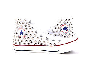 8f3664512592 Studded Converse All Star Chuck Taylor High Top Spiked Sneakers ...