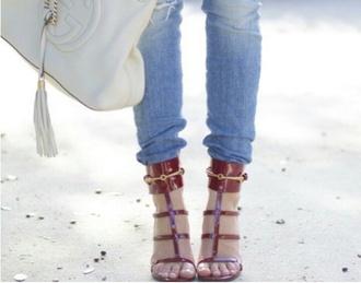 shoes high heels sandles maroon/burgundy