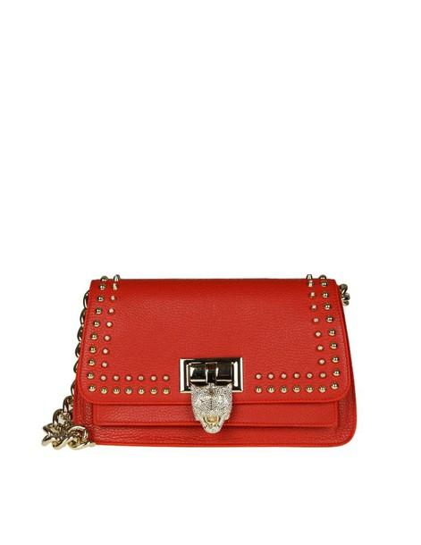 PHILIPP PLEIN bag shoulder bag leather red