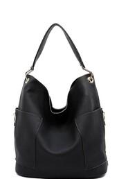 bag,black,gold,zip,shoulder bag