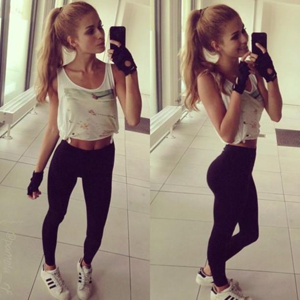 shoes shirt gloves nike workout clothes gym sportswear fitness sportswear yoga pants