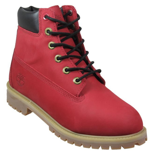 Timberland Boots Junior 6'' Prem Red Leather