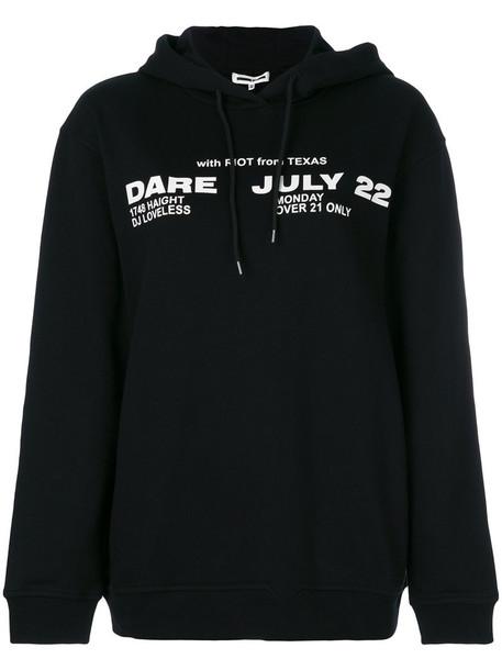 McQ Alexander McQueen hoodie women cotton black sweater
