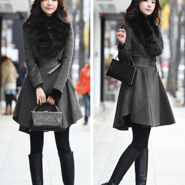 6364e356d89a clothes coat trench coat fashion sexy wool coat cardigan long coat warm  coat winter coat jumpsuit