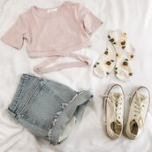 top,fashion,outfit,pink,crop,crop tops,straps,cut-out,sunflower sock,sunflower socks,spring,summer,spring looks,spring outfits,coachella,festival,festive,trendy looks for spring,spring ootd,summer outfits,spring style,bellexo,strappy top,strappy heels