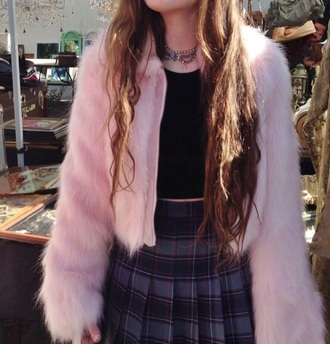 coat pink pink fur coat pink fur fur coat
