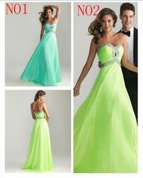 chiffon abend lange 2013 geliebte formale prom kleider blau aqua brautjungfer kleid grün