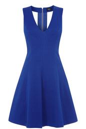 dress,textured jacquard skater dress