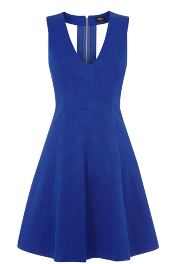dress textured jacquard skater dress