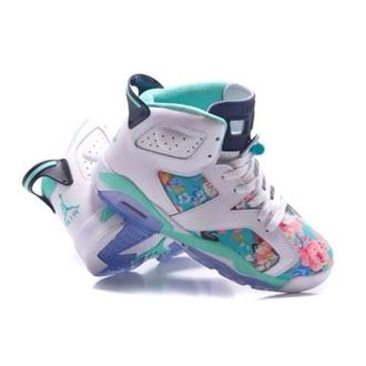 shoes flowers air jordan jordans baby blue jordan flowe jordan shoes dress sneakers floral floral jordans kicks custom custom jordans jordan's teal and purple