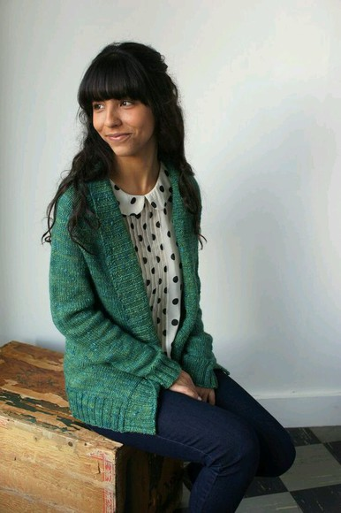 blouse polka dot cardigan
