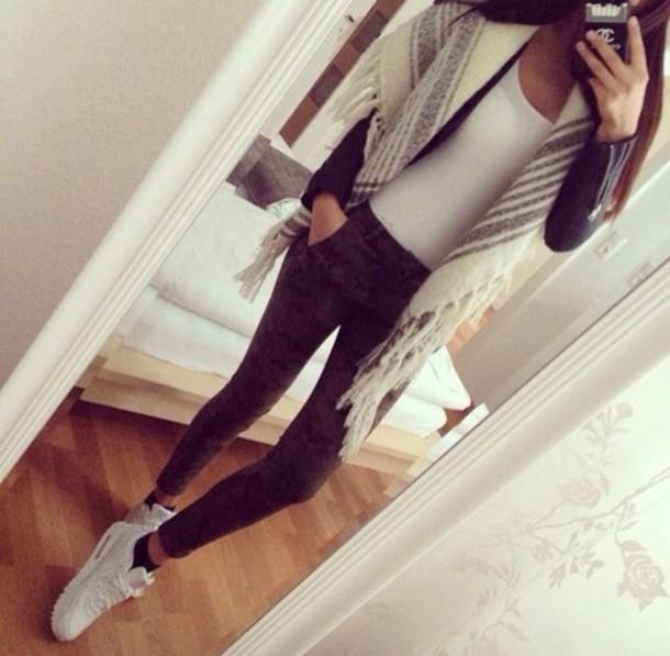 scarf jacket pants